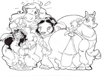 Disney Animal Princesses by Schnopszilla