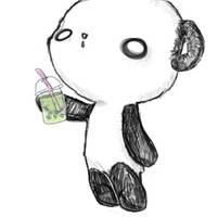 Bubble Tea Panda by death-by-weasels