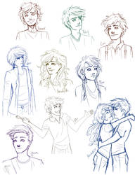 Percy Jackson sketch dump by bbandittt