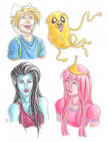 Adventure Time characters by bbandittt