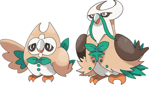 FAKEMON - Rowlet evolutions by Tails19950