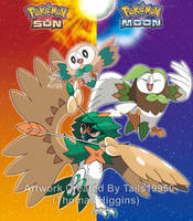 Rowlet's Evolutionary Family by Tails19950
