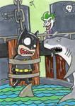 Batman vs The Joker sketch card by johnnyism