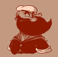 Bearded: Popeye by Vanjamrgan