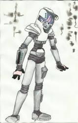 50s Retro Style Spacegirl by auburn42