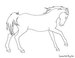power horse linenart by shy-fox