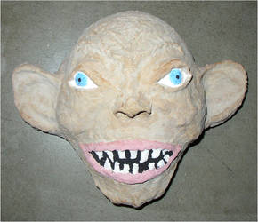 Gollum Mask by asubmarinewinter