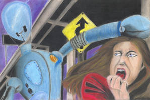 Attack of the Robot by asubmarinewinter