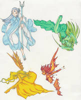 Four Elements by NakuraCalavera