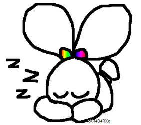 sleepy bunny by xXR4D4RXx