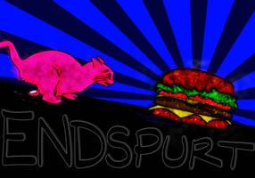 Colorized: CAT card: Endspurt by marderchen