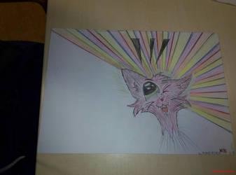 DRAW: pink furfurr Kitten by marderchen