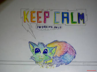 Colour Pencil DRAW: KEEP CALM rainbowkitten by marderchen