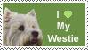 Westie Love Stamp by Alkahla