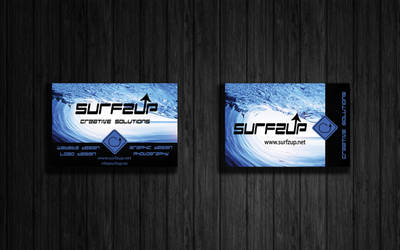 Surfzup Wave Business Cards by SURFZUP