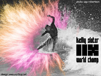 Kelly Slater 11x World Champ by SURFZUP