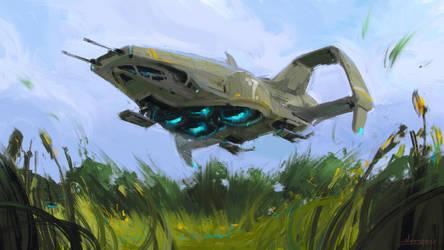 spaceship concept by sergeo-art