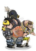 Roadhog n Junkrat by JokerOpedia