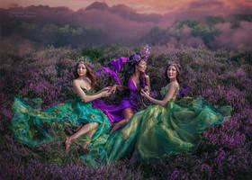goddesses of heath valleys by chervona