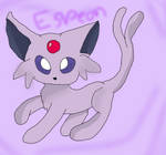 Drawing an Espeon for the first time. by Candygirl4226