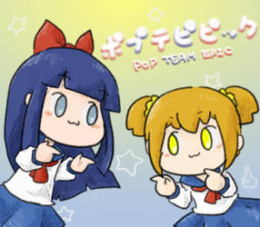 pop team epic by saxan39