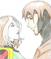 Evo Rogue and Gambit by RogueHarlequin