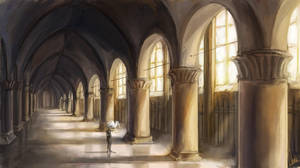Halls of the chosen ones by OrangeSavannah