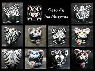 Gato de los Muertos by crokittycats