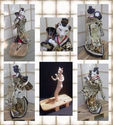 Wolf Geisha by crokittycats