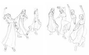 Dancing Maidens by birdofj