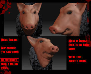 Pigface Zbrush 3D model by DarkStory