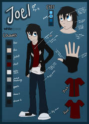 Joel Colour Refence Sheet by AbnormallyNice