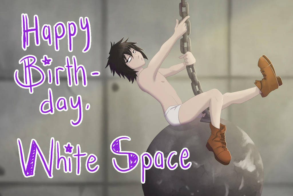 Happy 4th Birthday to White Space by AbnormallyNice