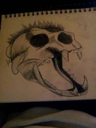 Lion Skull by un-hynged