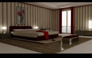 master bedroom -vray c4d test by zigshot82