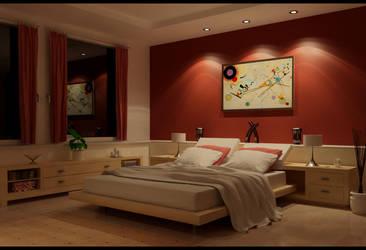 smooth bedroom night by zigshot82