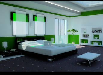 green bedroom by zigshot82