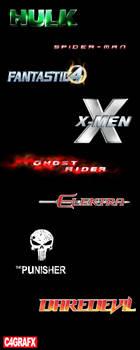 Marvel logos by zigshot82