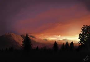 sunset after dark by zigshot82