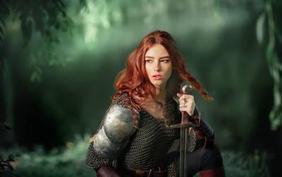 A warrior by OlgaBoyko