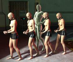 Quartet of slaves by silverexpress