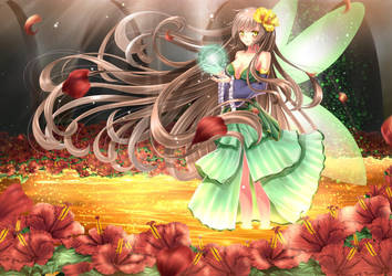 Forest Fairy Wallpaper by Dragha