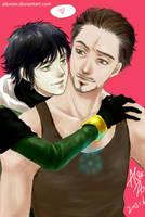 Slash? Kid Loki and Tony by alexzoe