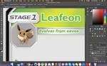 Sneak Peek of my Leafeon GX Card by RylSilver