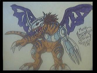 MetalGreymon colored by BlueExveemon