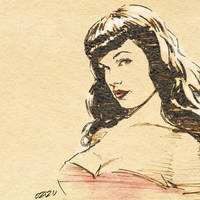 Bettie Page by mame-ozizo