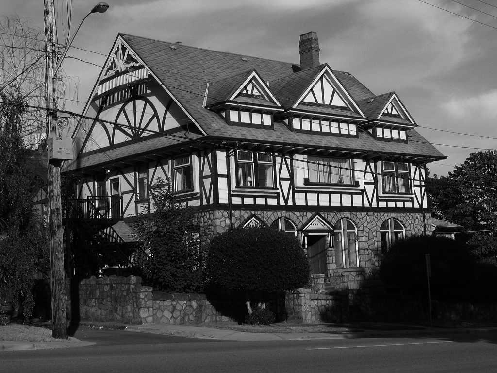 Tudor House Black And White By Regenstock