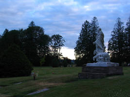 Jesus statue at cemetery - 2. by Regenstock