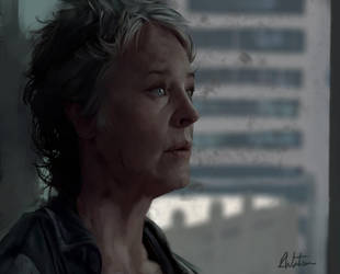 Carol Walking Dead Study by noodlepredator