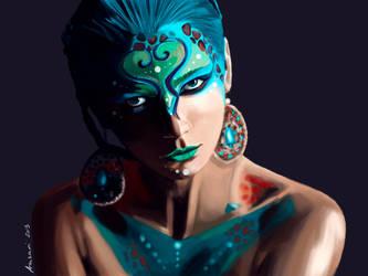 Cosmic Goddess by Aakami